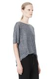 T by ALEXANDER WANG HEATHER LINEN OVERSIZED TEE TOP Adult 8_n_a