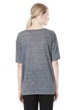 T by ALEXANDER WANG HEATHER LINEN OVERSIZED TEE TOP Adult 8_n_d