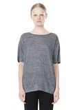 T by ALEXANDER WANG HEATHER LINEN OVERSIZED TEE TOP Adult 8_n_e