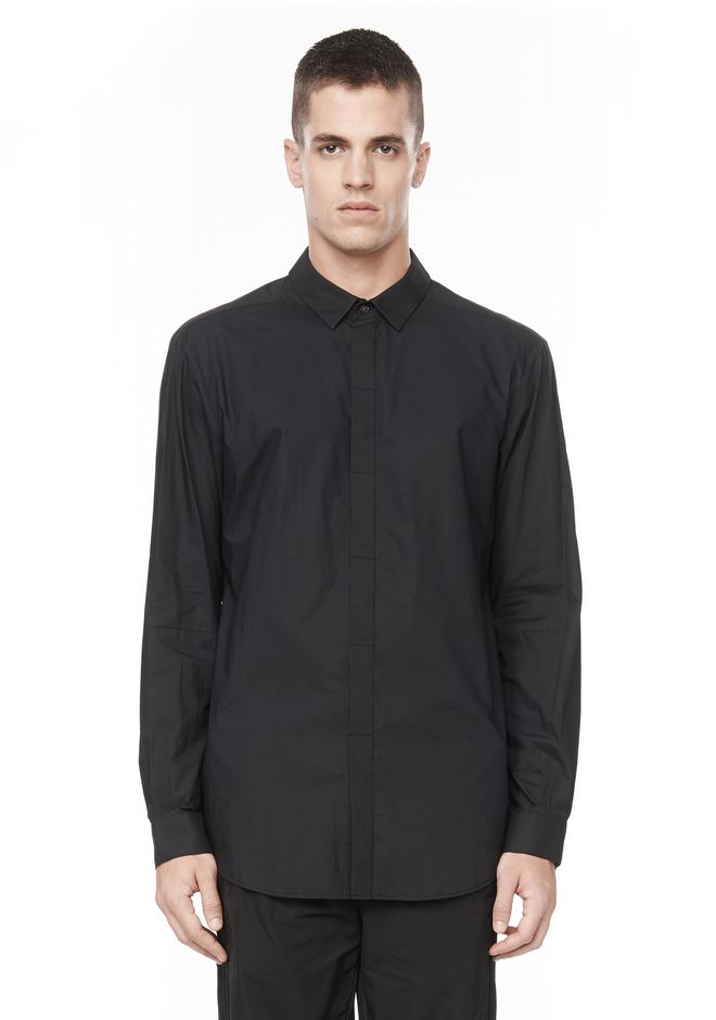ALEXANDER WANG HIDDEN BUTTON DOWN DRESS SHIRT SHIRT Adult 12_n_e