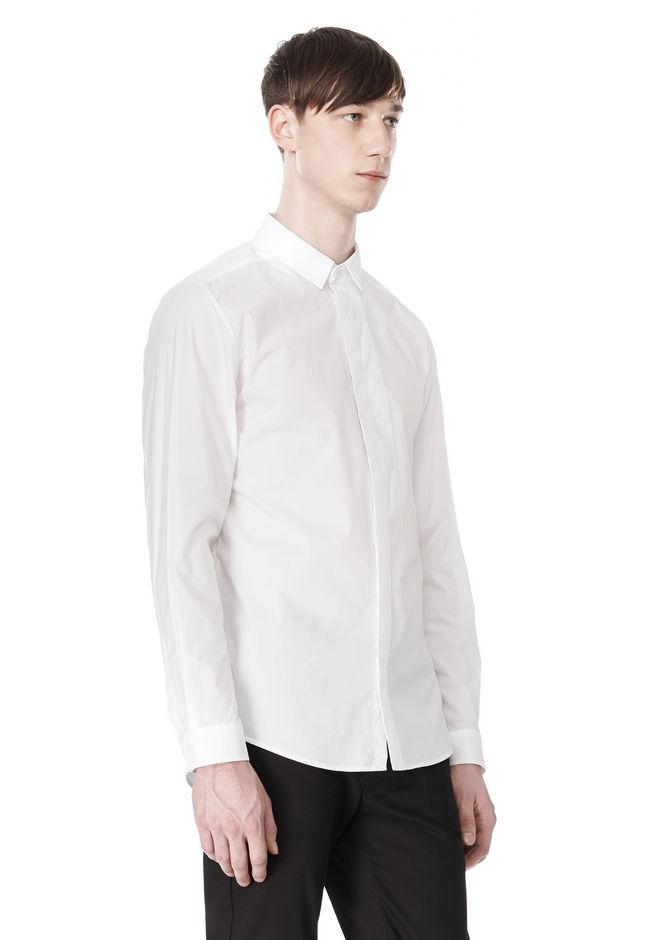 ALEXANDER WANG HIDDEN BUTTON DOWN DRESS SHIRT SHIRT Adult 12_n_a