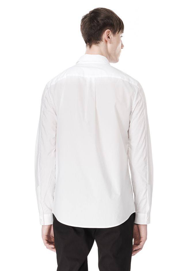 ALEXANDER WANG HIDDEN BUTTON DOWN DRESS SHIRT SHIRT Adult 12_n_d