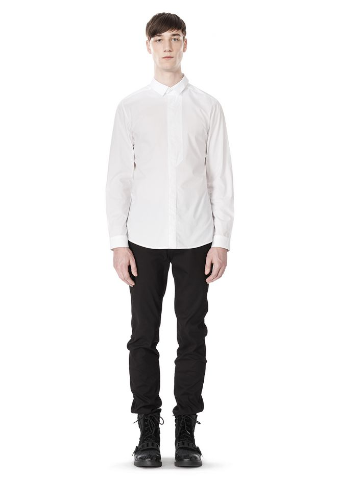 ALEXANDER WANG HIDDEN BUTTON DOWN DRESS SHIRT SHIRT Adult 12_n_f