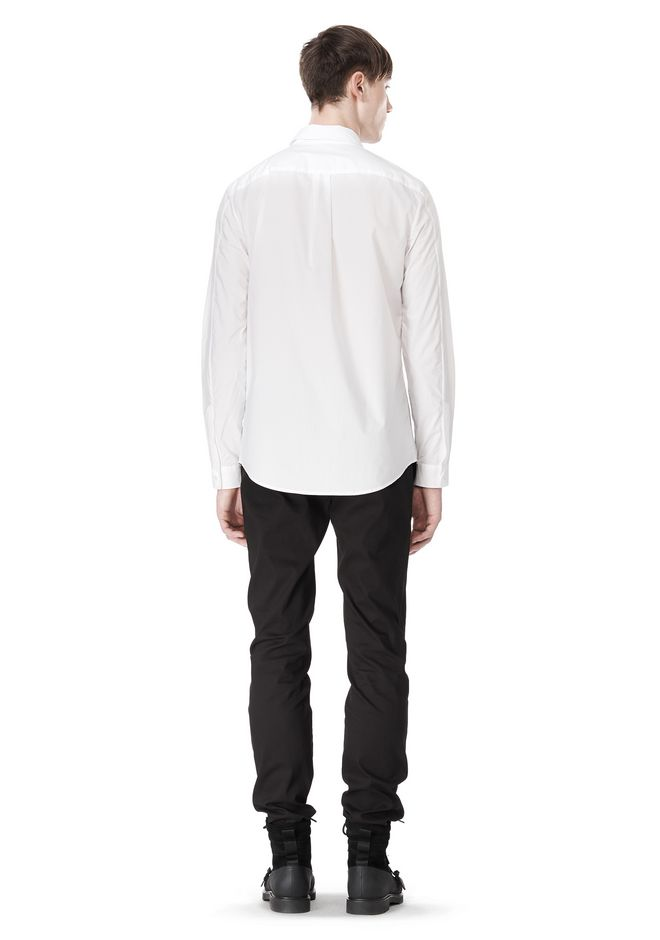 ALEXANDER WANG HIDDEN BUTTON DOWN DRESS SHIRT SHIRT Adult 12_n_r