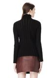 T by ALEXANDER WANG MERINO STRIPED TURTLENECK PULLOVER TOP Adult 8_n_d