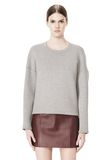 T by ALEXANDER WANG COTTON NEOPRENE CREWNECK SWEATSHIRT TOP Adult 8_n_e