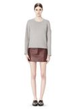 T by ALEXANDER WANG COTTON NEOPRENE CREWNECK SWEATSHIRT TOP Adult 8_n_f