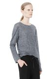 T by ALEXANDER WANG HEATHER LINEN LONG SLEEVE TEE TOP Adult 8_n_a