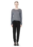 T by ALEXANDER WANG HEATHER LINEN LONG SLEEVE TEE TOP Adult 8_n_f
