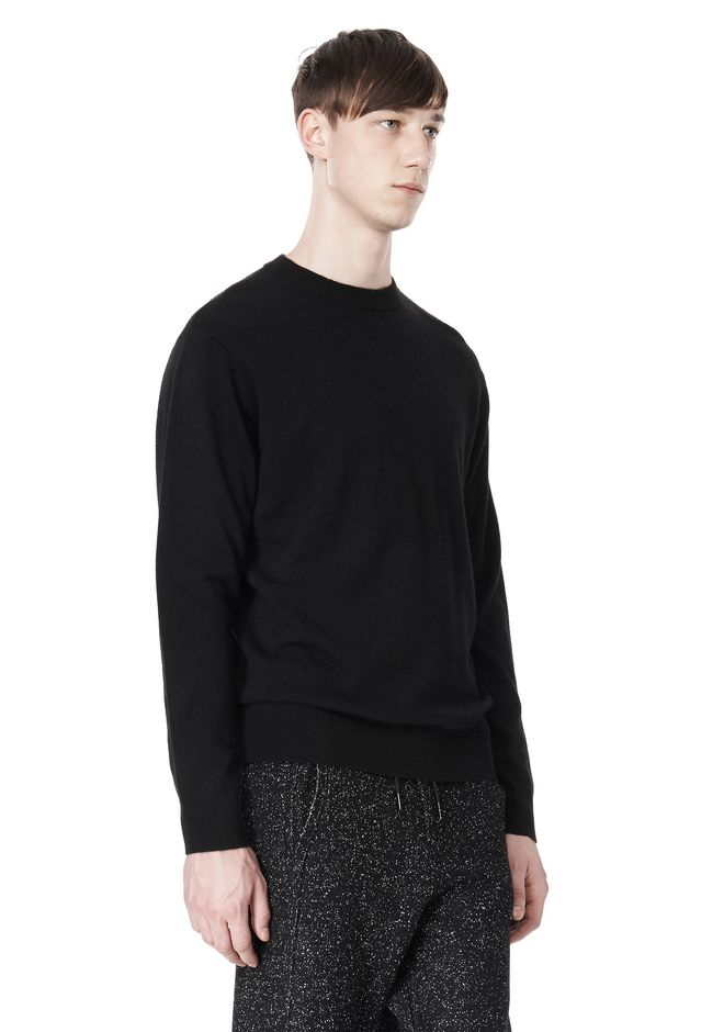 T by ALEXANDER WANG MERINO BLEND KNIT CREWNECK PULLOVER Crewneck Adult 12_n_a