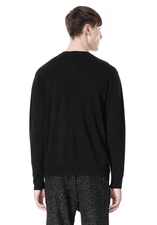T by ALEXANDER WANG MERINO BLEND KNIT CREWNECK PULLOVER Crewneck Adult 12_n_d