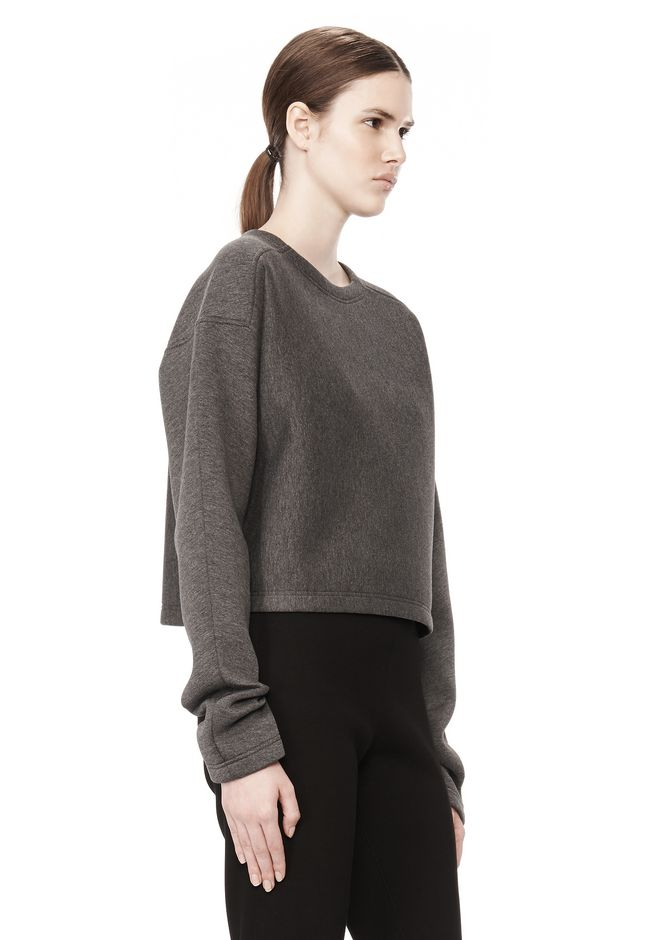 T by ALEXANDER WANG SCUBA DOUBLE KNIT CREWNECK SWEATSHIRT TOP Adult 12_n_a