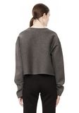 T by ALEXANDER WANG SCUBA DOUBLE KNIT CREWNECK SWEATSHIRT TOP Adult 8_n_d