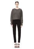 T by ALEXANDER WANG SCUBA DOUBLE KNIT CREWNECK SWEATSHIRT TOP Adult 8_n_f