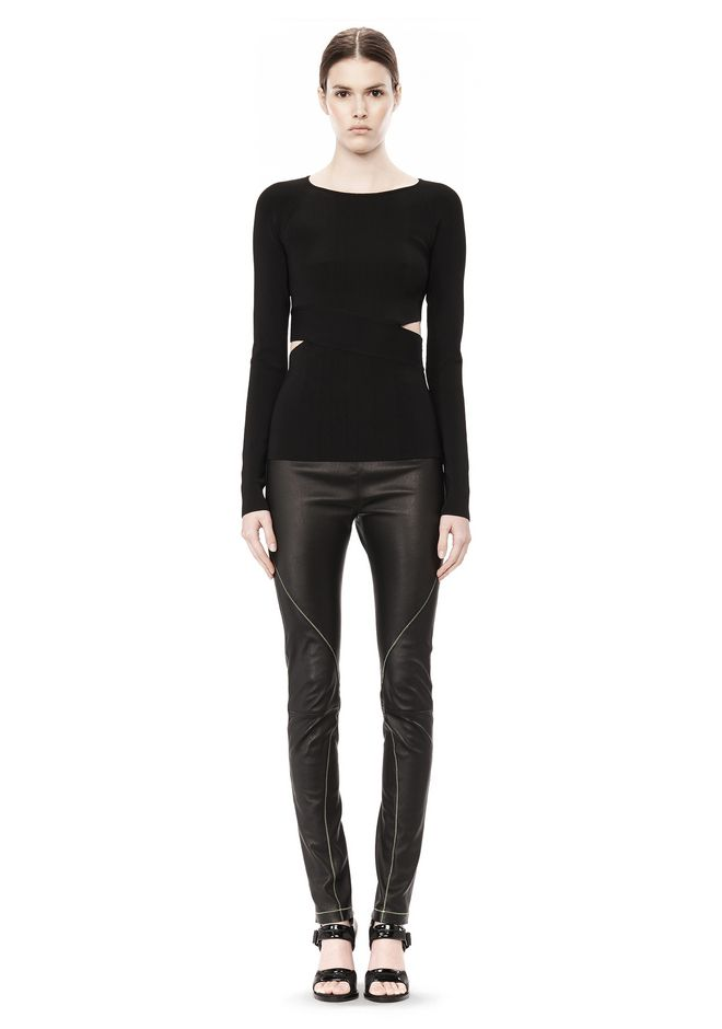 T by ALEXANDER WANG CRISS CROSS LONG SLEEVE TOP TOP Adult 12_n_f