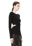 T by ALEXANDER WANG CRISS CROSS LONG SLEEVE TOP TOP Adult 8_n_a