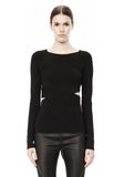 T by ALEXANDER WANG CRISS CROSS LONG SLEEVE TOP TOP Adult 8_n_e