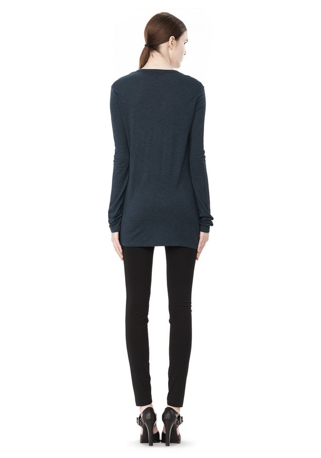 T by ALEXANDER WANG CLASSIC LONG SLEEVE TEE WITH POCKET TOP Adult 12_n_r