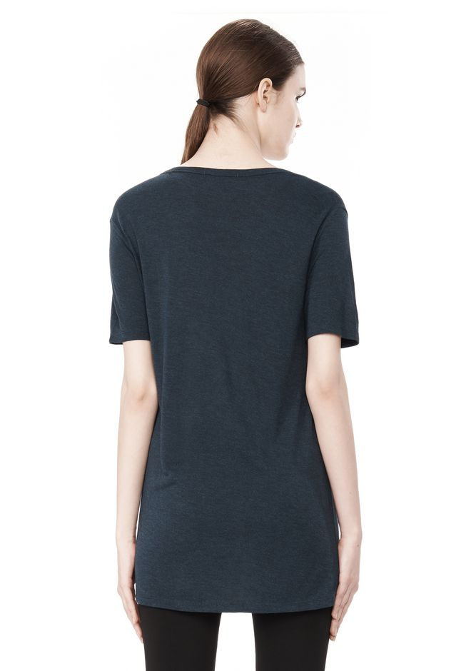 T by ALEXANDER WANG CLASSIC TEE WITH POCKET TOP Adult 12_n_d