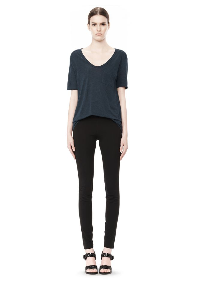 T by ALEXANDER WANG CLASSIC TEE WITH POCKET TOP Adult 12_n_f