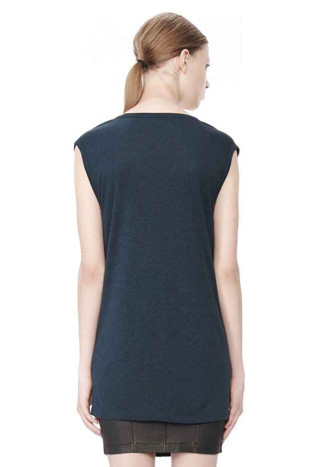 T by ALEXANDER WANG CLASSIC MUSCLE TEE WITH POCKET TOP Adult 12_n_d