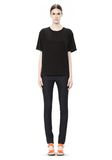 T by ALEXANDER WANG WASHED SILK CHARMEUSE SHORT SLEEVE TEE TOP Adult 8_n_f