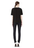 T by ALEXANDER WANG WASHED SILK CHARMEUSE SHORT SLEEVE TEE TOP Adult 8_n_r