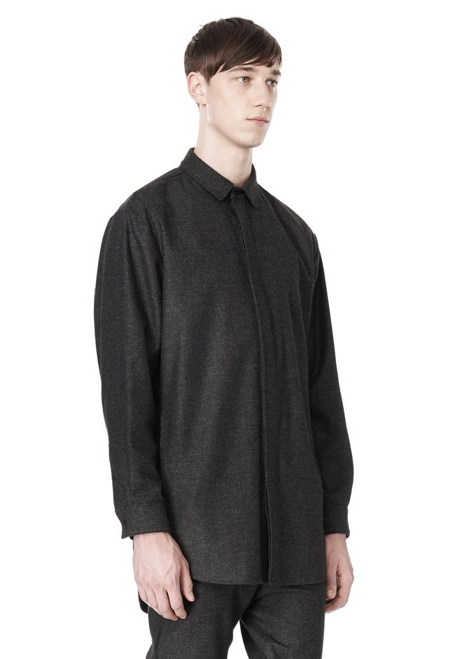 ALEXANDER WANG OVERSIZED DOUBLE SHOULDER  SHIRT WITH SLIT POCKET SHIRT Adult 12_n_a