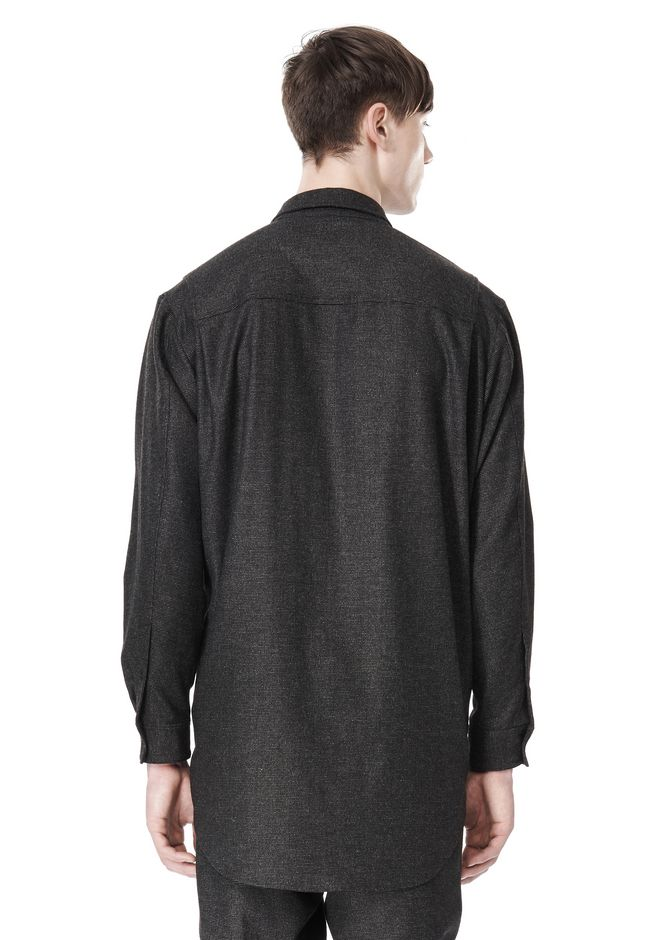 ALEXANDER WANG OVERSIZED DOUBLE SHOULDER  SHIRT WITH SLIT POCKET SHIRT Adult 12_n_d