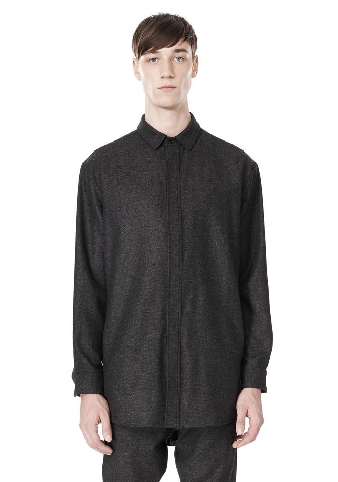 ALEXANDER WANG OVERSIZED DOUBLE SHOULDER  SHIRT WITH SLIT POCKET SHIRT Adult 12_n_e