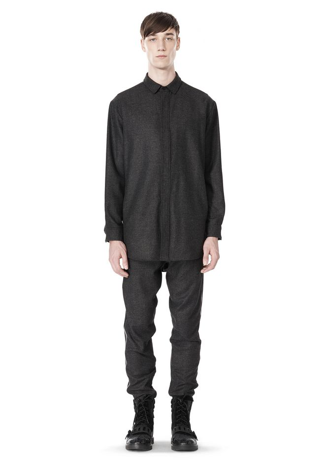 ALEXANDER WANG OVERSIZED DOUBLE SHOULDER  SHIRT WITH SLIT POCKET SHIRT Adult 12_n_f