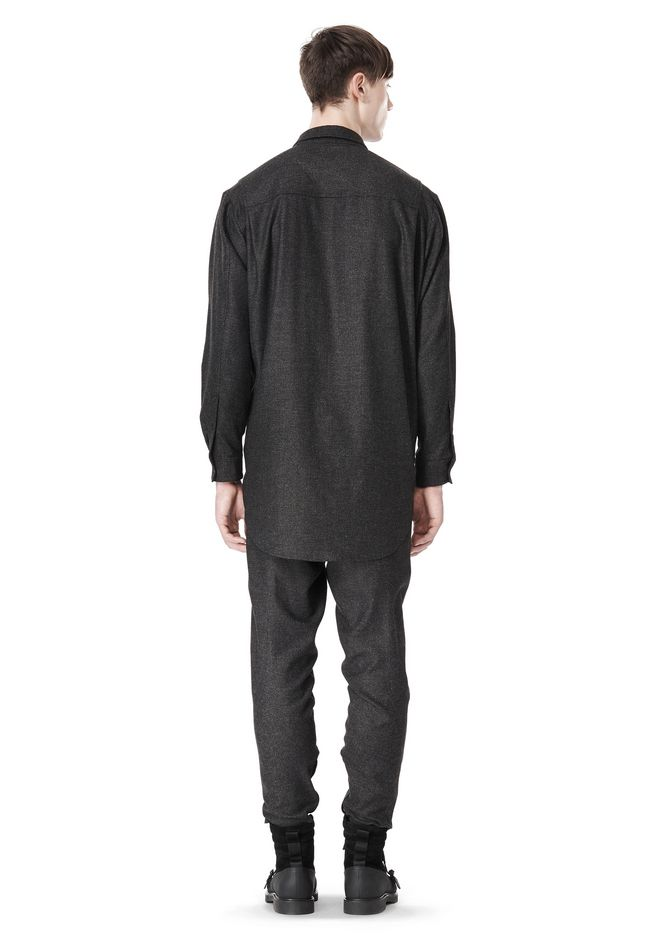 ALEXANDER WANG OVERSIZED DOUBLE SHOULDER  SHIRT WITH SLIT POCKET SHIRT Adult 12_n_r
