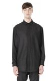 ALEXANDER WANG OVERSIZED DOUBLE SHOULDER  SHIRT WITH SLIT POCKET SHIRT Adult 8_n_e