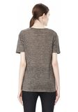 T by ALEXANDER WANG HEATHER LINEN SHORT SLEEVE CREW NECK TEE TOP Adult 8_n_d