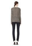 T by ALEXANDER WANG HEATHER LINEN LONG SLEEVE CREW NECK TEE TOP Adult 8_n_r
