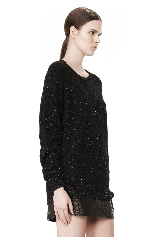 ALEXANDER WANG CASHMERE DONEGAL PULLOVER Crewneck Adult 12_n_a