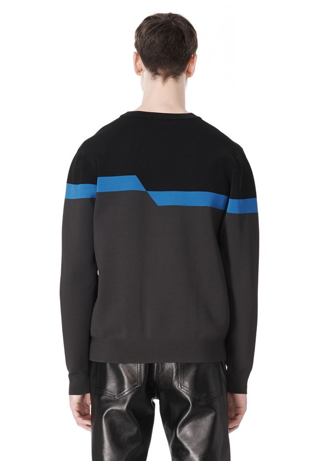 ALEXANDER WANG BROKEN STRIPE SWEATSHIRT TOP Adult 12_n_d