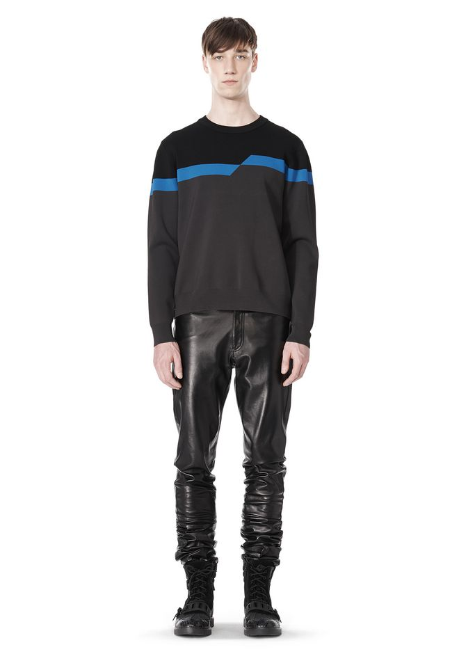 ALEXANDER WANG BROKEN STRIPE SWEATSHIRT TOP Adult 12_n_f
