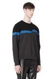 ALEXANDER WANG BROKEN STRIPE SWEATSHIRT TOP Adult 8_n_a