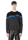 ALEXANDER WANG BROKEN STRIPE SWEATSHIRT TOP Adult 8_n_e