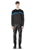 ALEXANDER WANG BROKEN STRIPE SWEATSHIRT TOP Adult 8_n_f