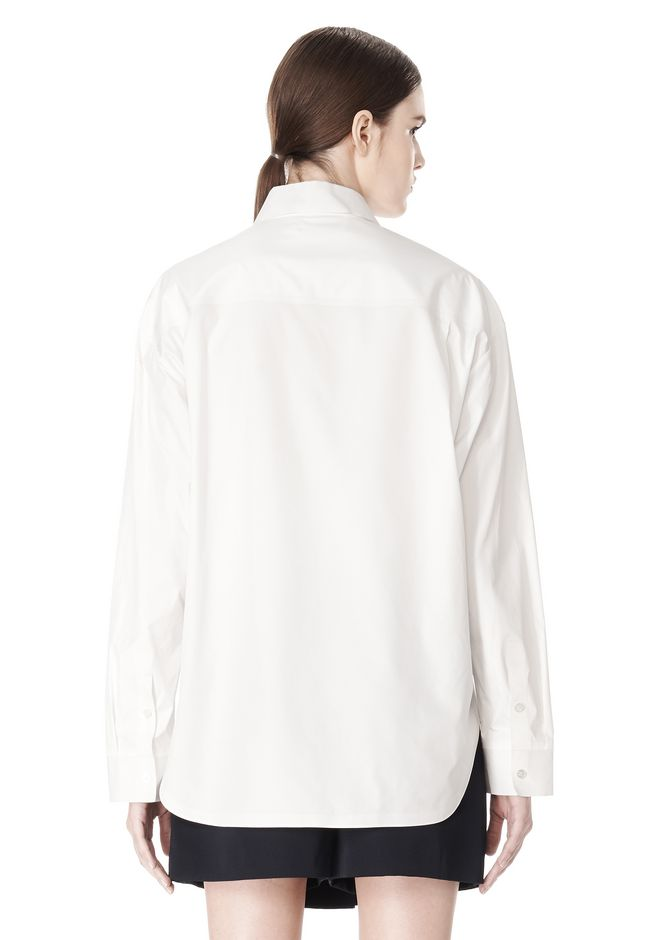 ALEXANDER WANG OVERSIZED DRESS SHIRT TOP  12_n_d