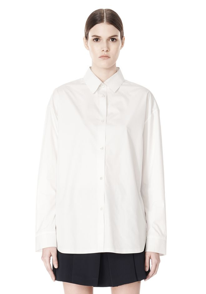 ALEXANDER WANG OVERSIZED DRESS SHIRT TOP  12_n_e