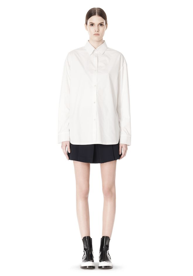 ALEXANDER WANG OVERSIZED DRESS SHIRT TOP  12_n_f
