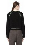 T by ALEXANDER WANG MERINO BLEND PULLOVER WITH RIB DETAIL TOP Adult 8_n_d