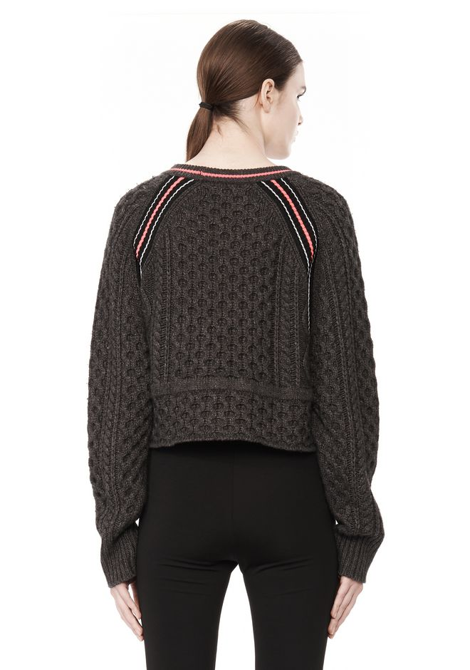 T by ALEXANDER WANG MERINO BLEND PULLOVER WITH RIB DETAIL TOP Adult 12_n_d