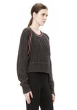 T by ALEXANDER WANG MERINO BLEND PULLOVER WITH RIB DETAIL TOP Adult 8_n_a