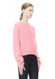 T by ALEXANDER WANG MOHAIR KNIT PULLOVER TOP Adult 8_n_a