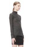 T by ALEXANDER WANG ALPACA LONG SLEEVE TURTLENECK SWEATER TOP Adult 8_n_a