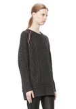 T by ALEXANDER WANG MERINO BLEND TUNIC WITH RIB DETAIL TOP Adult 8_n_a